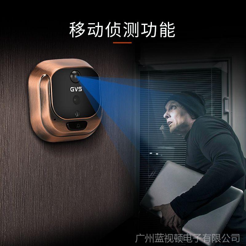 智能电子猫眼门铃家用可视对讲门镜高清防盗防水夜视监控摄像头