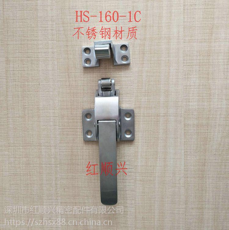 烘箱门锁不锈钢门把手 冰柜蒸箱可调节6寸拉手 冷库门锁红顺兴烤箱配件