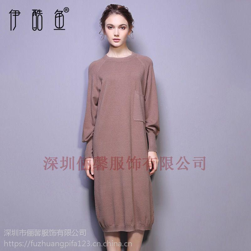 深圳针织连衣裙新款黑色长裙供货市场 优惠多多