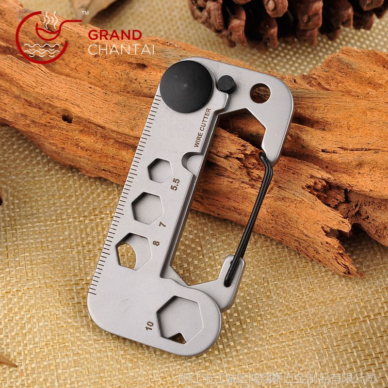 随身EDC小工具多功能户外露营登山扣钥匙圈创意用品求生自救攀爬