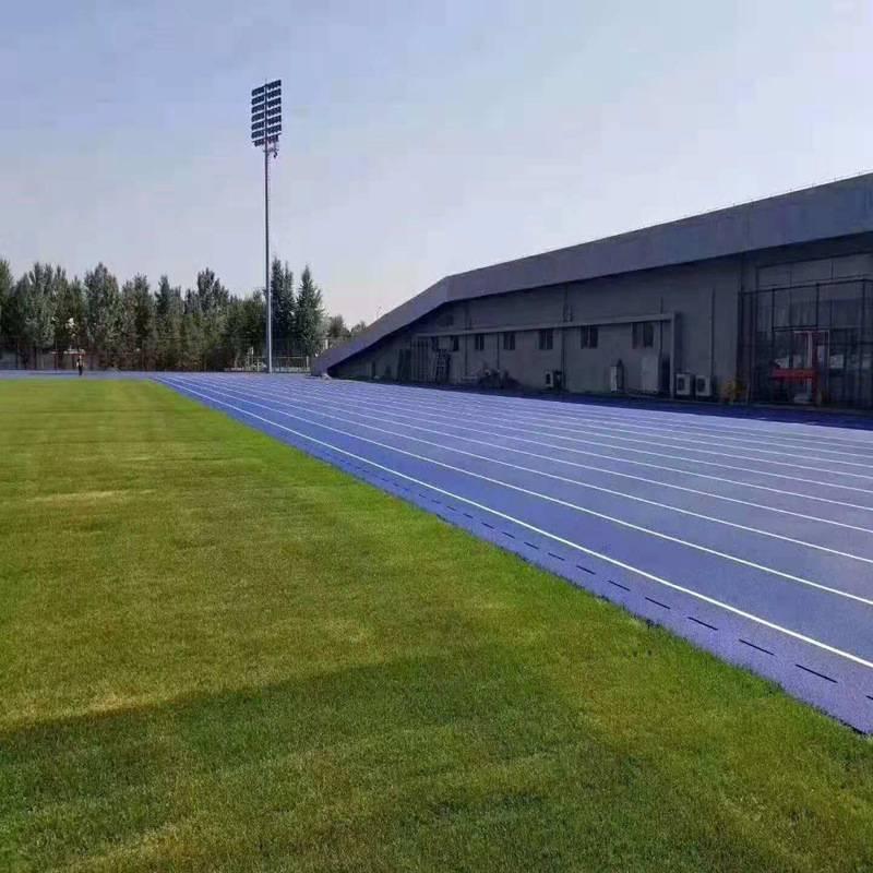 厂家直销运动跑道施工品质高 奥博运动场地运动跑道厂价批发