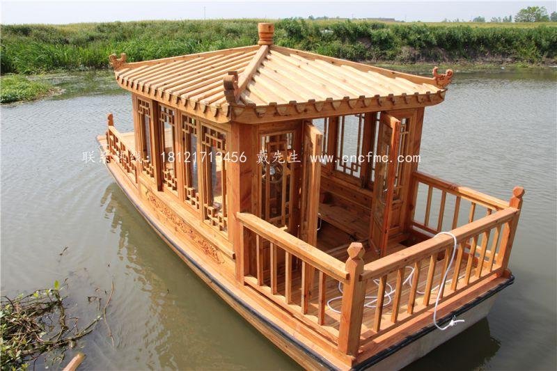厂家制造 单亭木船 电动观光船 景区旅游船 楚风供应