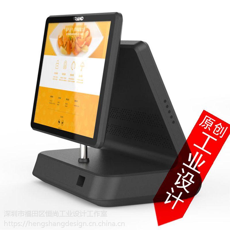 终端产品设计收银电脑刷卡机POS机平板产品外观结构设计工业设计