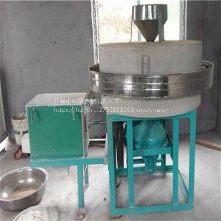 电动面粉石磨 家庭作坊专用面粉石磨机6