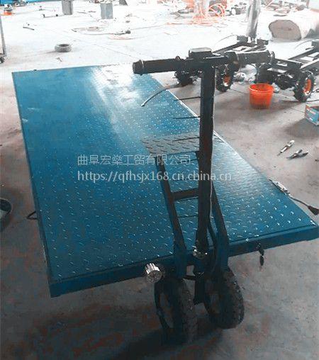 实心轮胎拉沙子空气砖平板车耐磨电动运输手推车