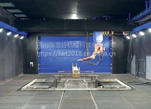 成都海恩特机器人喷砂房