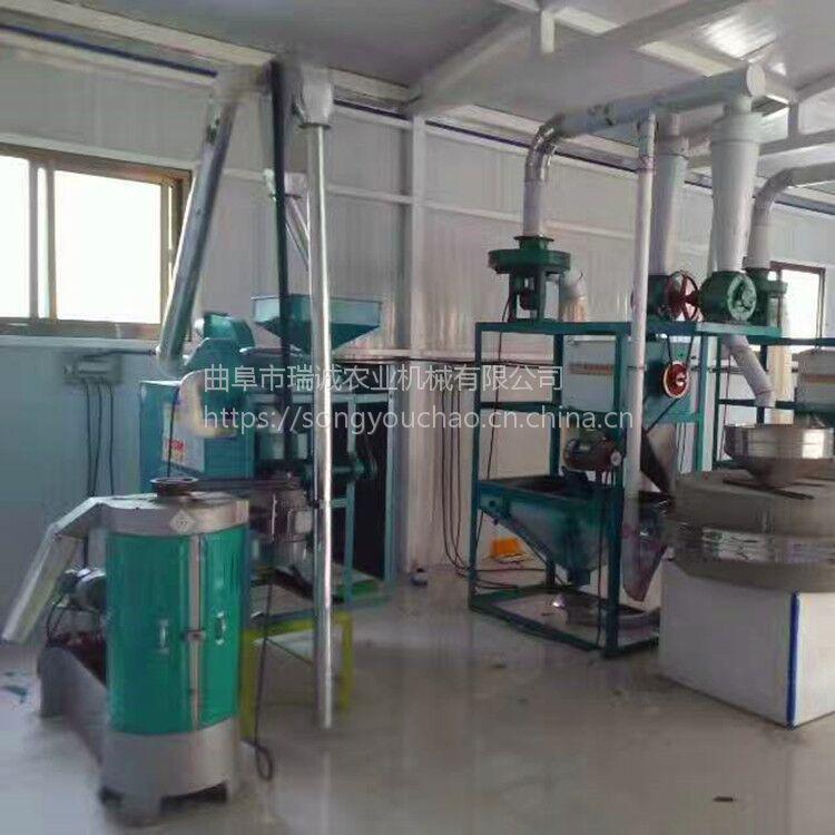 大型全自动面粉石磨机 瑞诚自产电动石磨面粉机