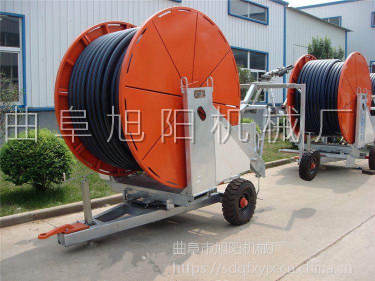 旭阳直销卷盘式灌溉机小麦水稻浇灌机自走式浇地机