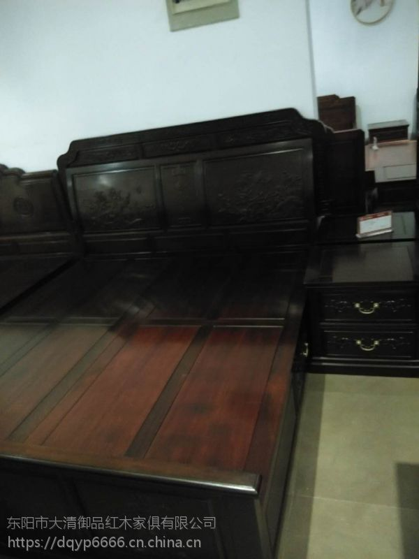 浙江台州大清御品红木家具批发厂巴里黄檀清式大床3件套