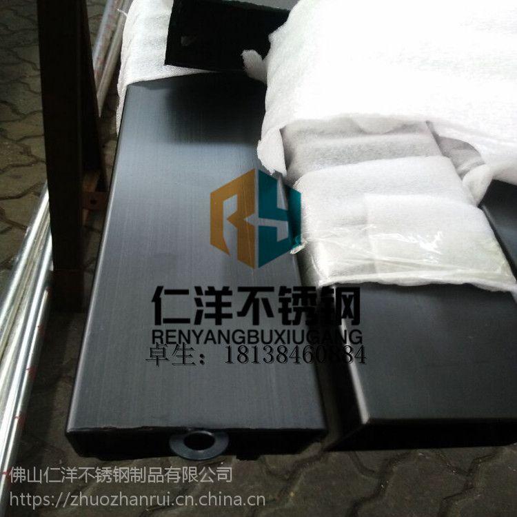 佛山专业生产 304黑钛不锈钢管 真空电镀 水镀 厂家直销