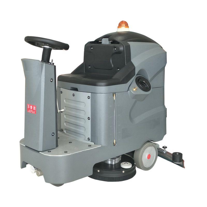 苏州纯碱库房金刚砂地面清洗机 全自动驾驶式洗地机L85BT70乐普洁