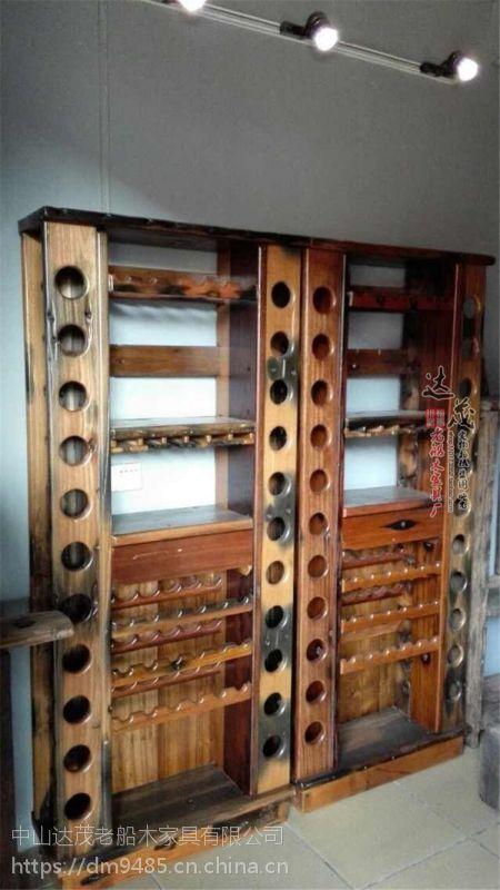 老船木博古架船木书架实木多宝格置物架隔断书柜古玩茶叶架展示架