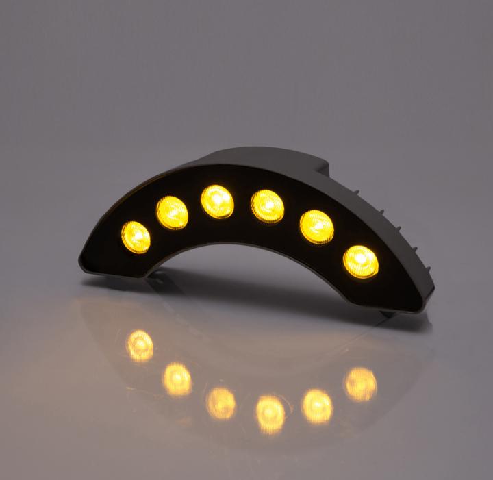 粤耀照明厂家直销户外工程专用LED户外瓦楞灯 凉亭月牙灯瓦面投射灯瓦片灯室外园林 工程照明