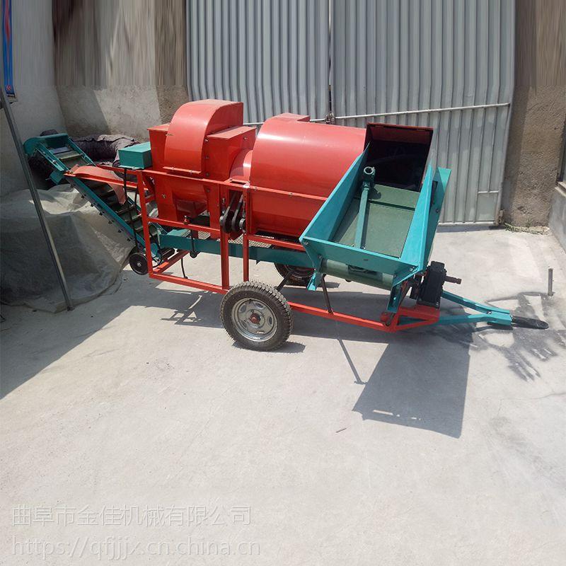 金佳机械自动上料花生摘果机 全自动小型花生摘果机 震动式果子去秧机
