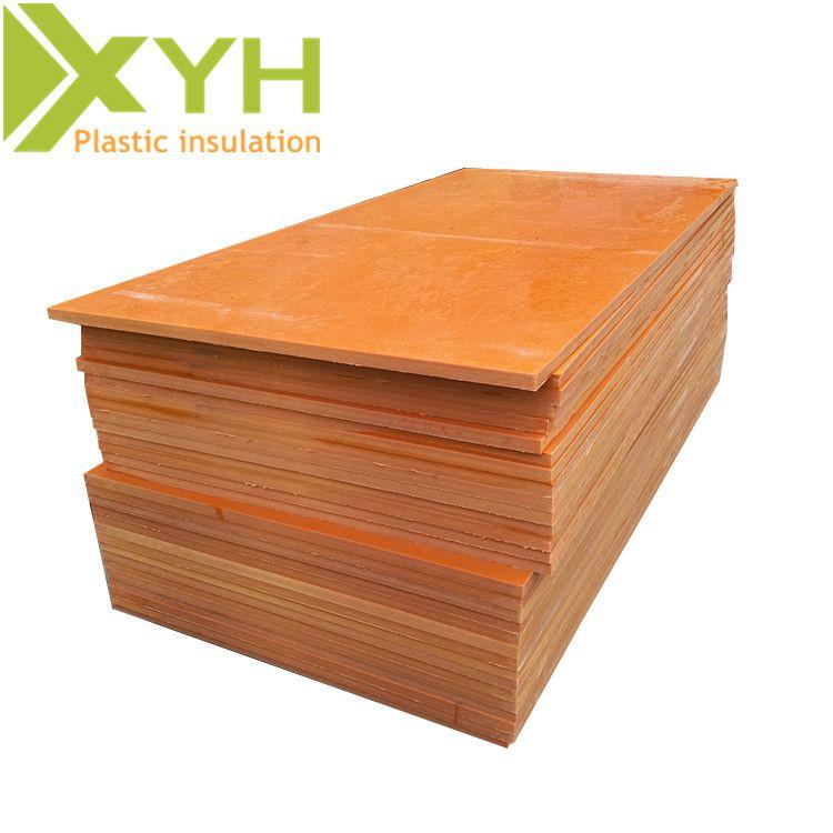 雄毅华橘红色电木板 垫片加工绝缘材料 酚醛树脂板任意切割雕刻加工定制