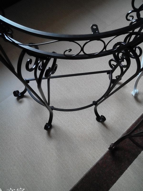 玄关欧式圆桌客厅家具家具半铁艺特价装饰桌芳墙角胜天津图片