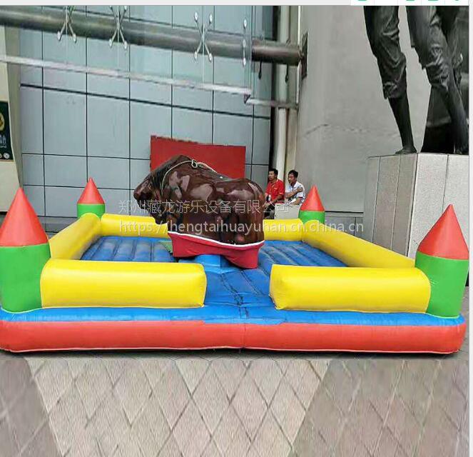 供应充气垫斗牛机 商场西班牙斗牛机 成人儿童座椅疯狂斗牛机批发价