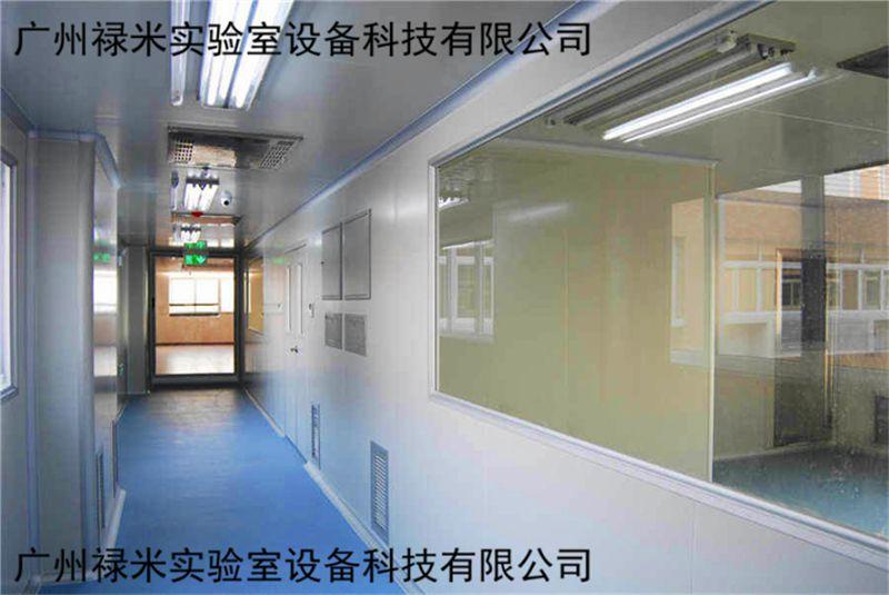 广州禄米实验室净化工程施工现场