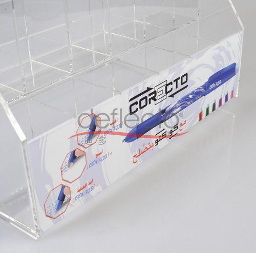 文具店笔架,超市货架收纳架,高档笔架定做加工,有机玻璃设计定做