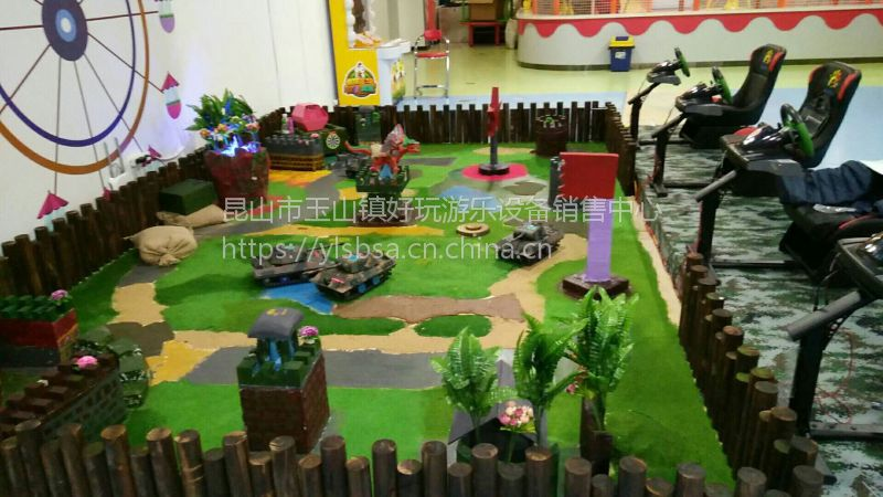 坦克军事沙盘陆地对战遥控坦克大战儿童游乐设备