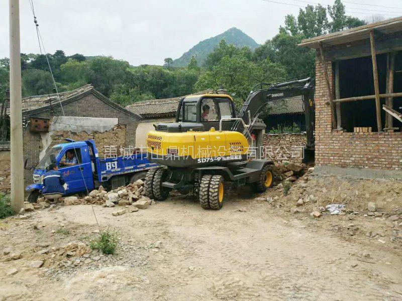 陕西皮轮挖掘机那里 山鼎小型挖掘机