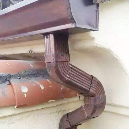 重庆檐沟彩铝天沟别墅阳光房金属雨水槽