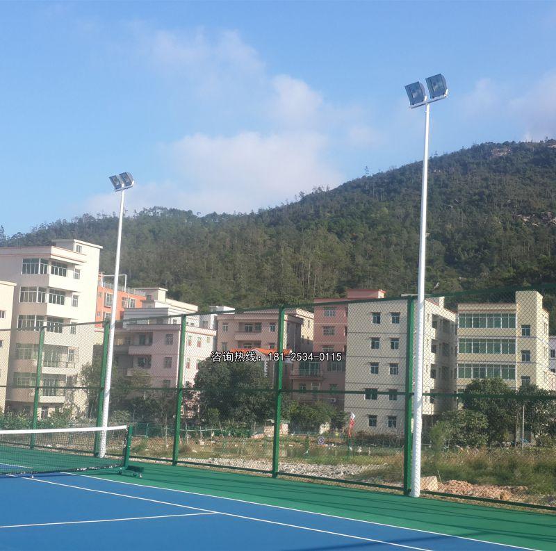 禅城区防水灯杆规格 网球场6米灯柱夜景图 4头灯篮球场使用