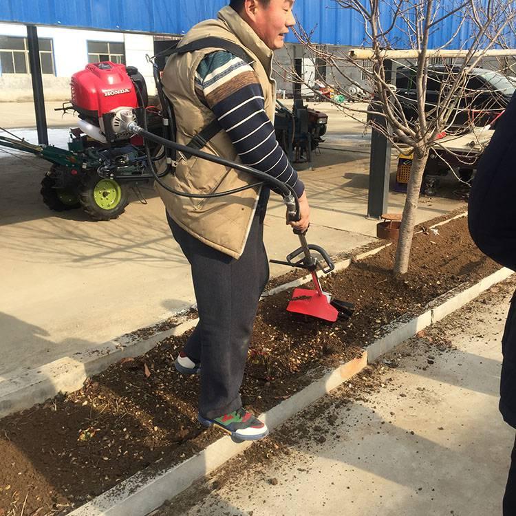 背负式果园除草机 小型果园松土锄地机 汽油旋耕松土机