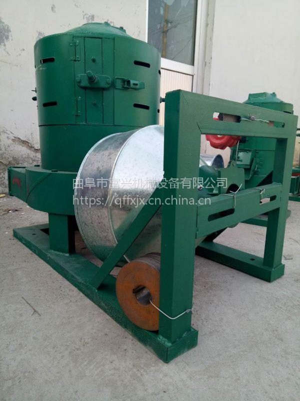 富兴水稻双风道碾米机 电动小型皂角打米机 实用砂辊糙米机厂家