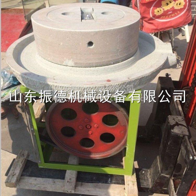 振德热销 直径40公分麻汁肠粉石磨机 电动石磨豆浆机 米浆香油磨