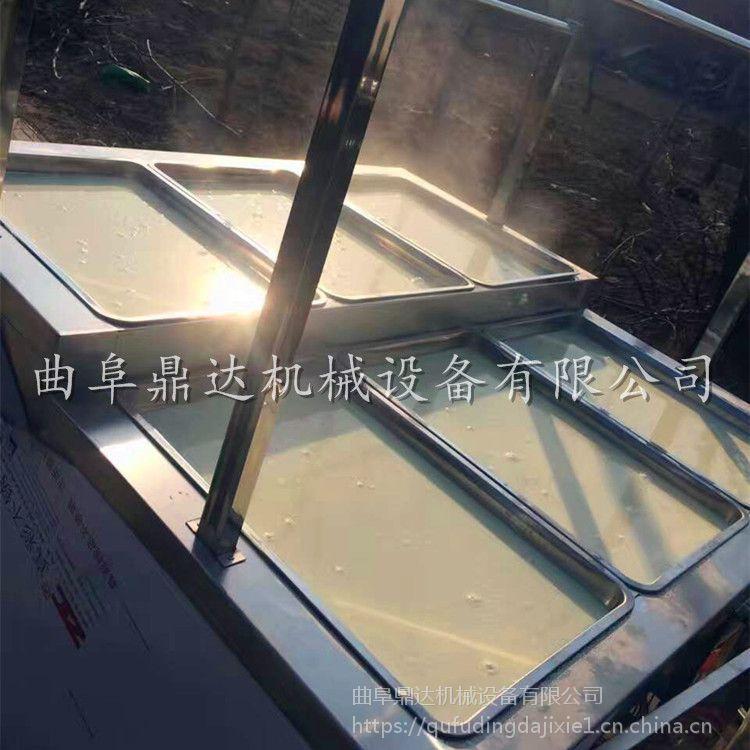 鼎达厂家免费培训腐竹油皮机技术 山西原味豆皮机