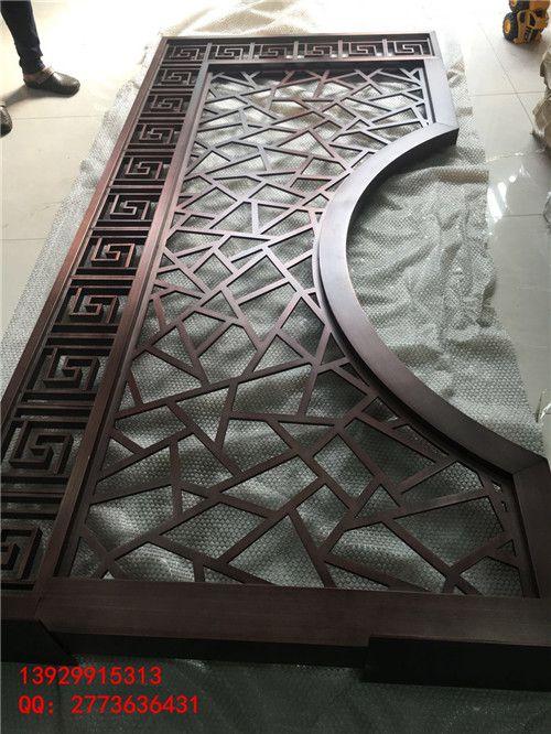 304不锈钢走廊隔断 不锈钢焊接仿古铜屏风