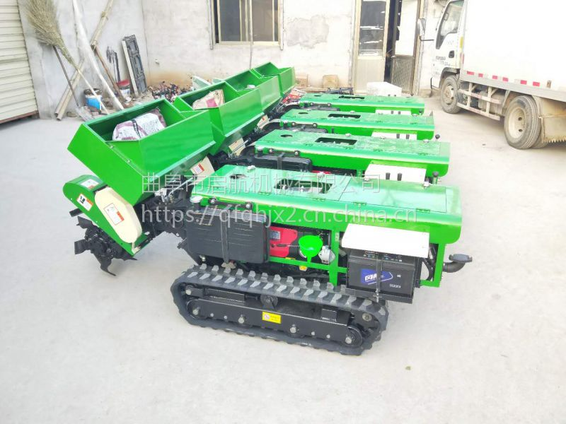 低矮果园开沟施肥机 多功能大棚开沟机 启航新型履带式回填机