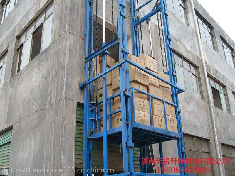 嘉兴载重4吨升降货梯厂家嘉兴楼层壁挂货梯厂家-天锐机械