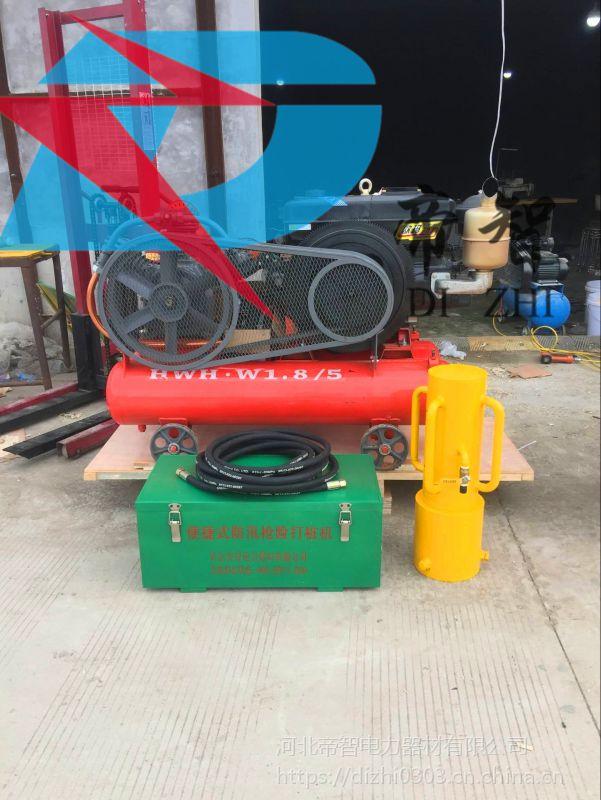 防汛打桩机供应厂家 小型气动植桩机性能