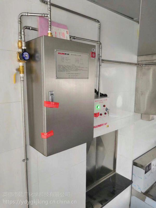 雾龙牌***新科技双瓶组电动自动化厨房灶台灭火系统