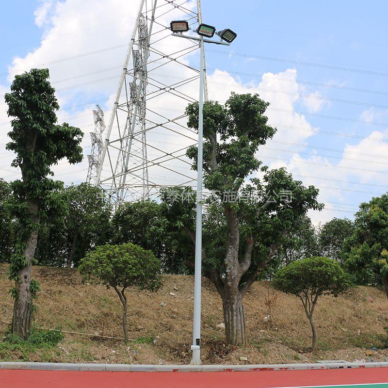 斗门市灯光篮球场灯具的高度 室外灯光篮球场技术方案 中灯杆照明范围