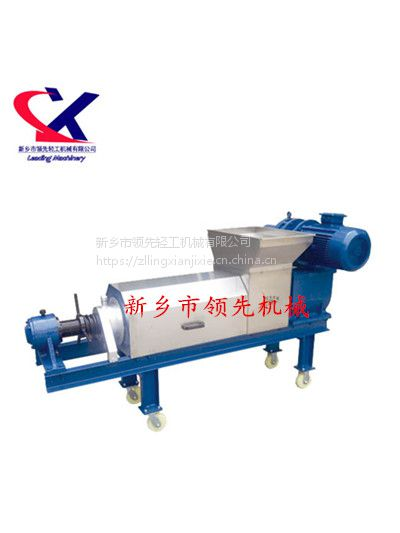 供应酿酒配套设备-新乡领先LX双螺旋压榨机1.5吨每小时