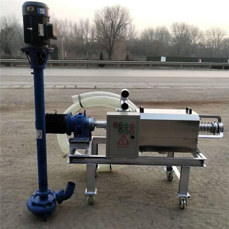 新型挤压脱水粪便固液分离机 养殖场配套环保处理粪污设备 润众