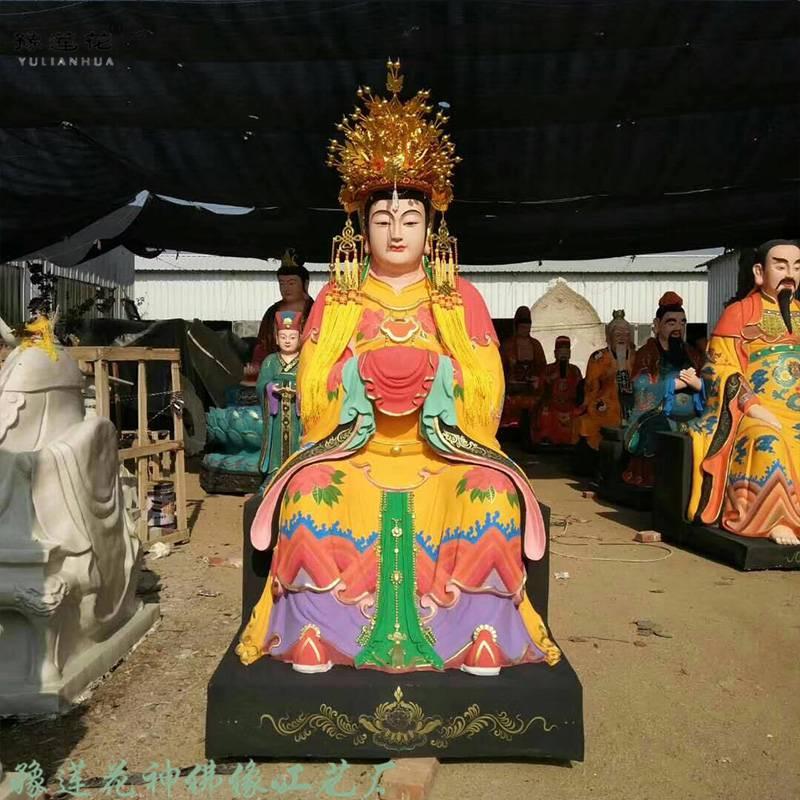 三霄娘娘神像、3.3米三霄送子娘娘、泰山送子奶奶佛像、泰山圣母娘、碧霞元君、眼光奶奶