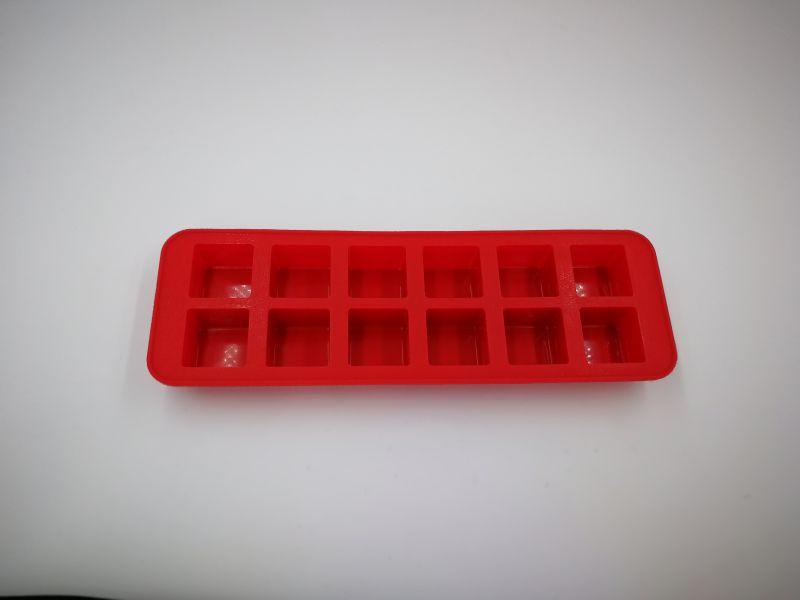 硅胶12孔方形冰格、正方块造型硅胶冰粒模具、冰格、巧克力糖果模具