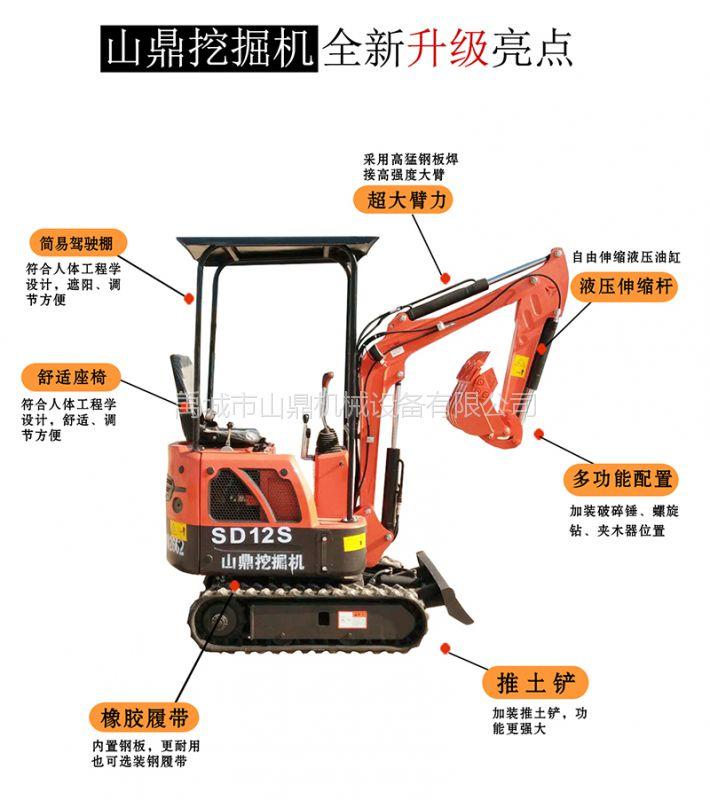 内蒙古工程用小型挖沟机 林业用小挖机 山鼎挖掘机厂家价格实惠