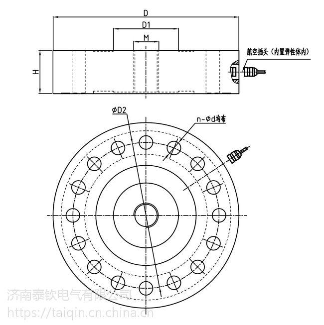 济南泰钦TQ-1AL内螺纹轮辐式称重传感器