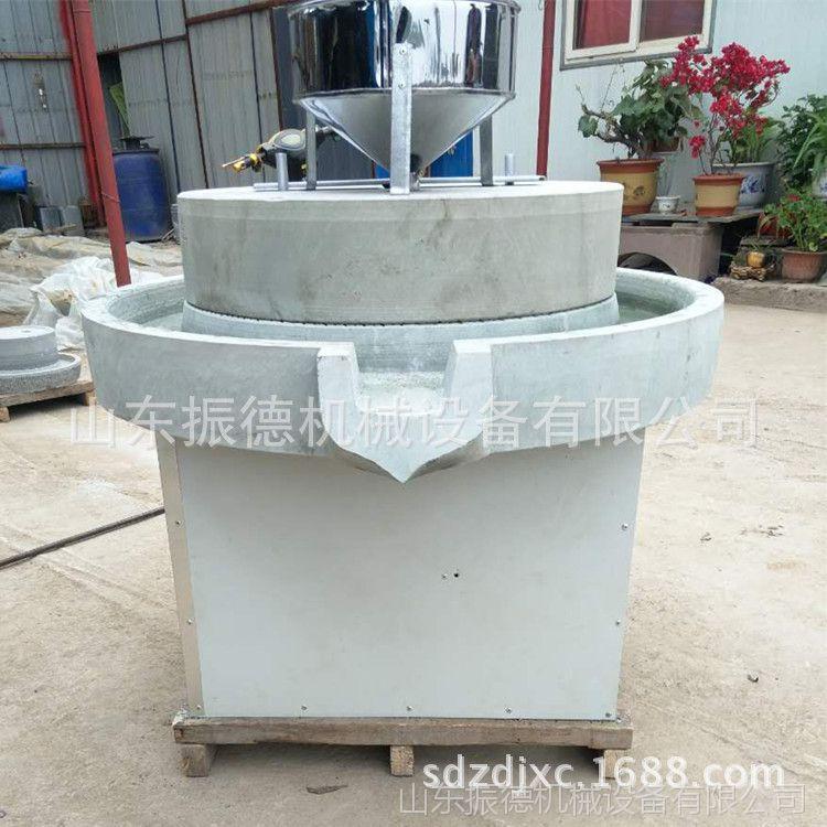 云浮石磨肠粉机 天然石材磨粉机 振德牌电动石磨米浆机 价格