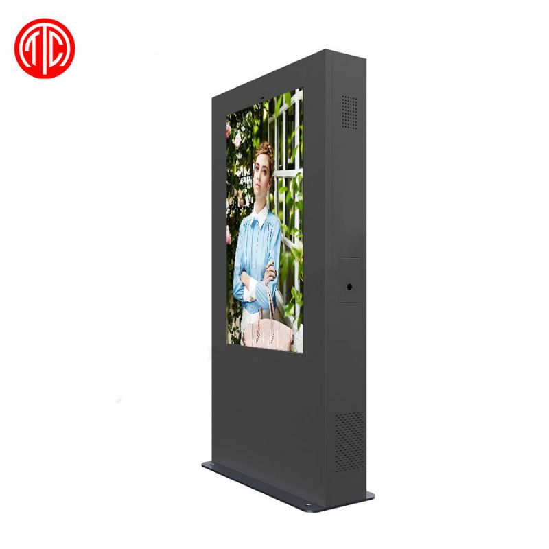 直销户外定制55寸mwe955防水防尘智能一键维护液晶广告机