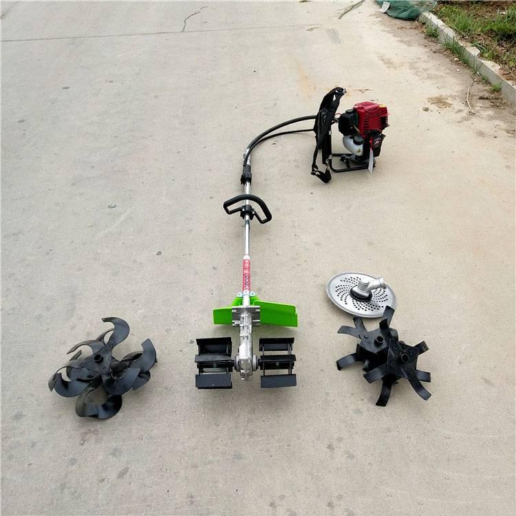 四冲程背负式锄草机 便捷式汽油开沟机 大棚背负式除草机