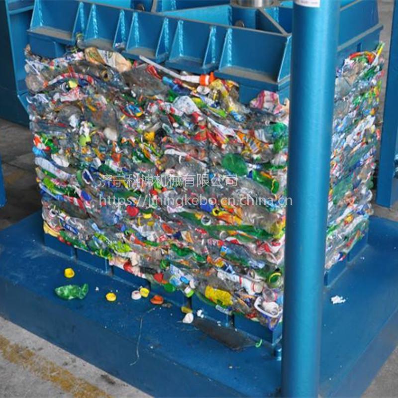萍乡废品废料打捆机 大力神科博无须地基易拉罐打包机 铁刨花压块机多少钱一台