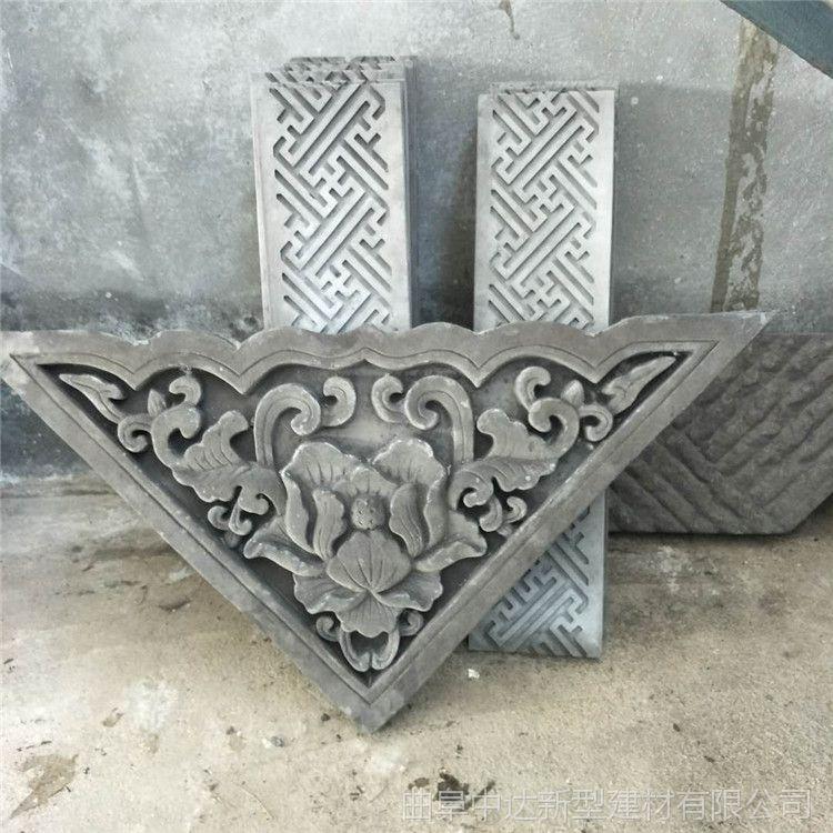 古砖雕背景墙淄博厂家批发,仿古地面青砖