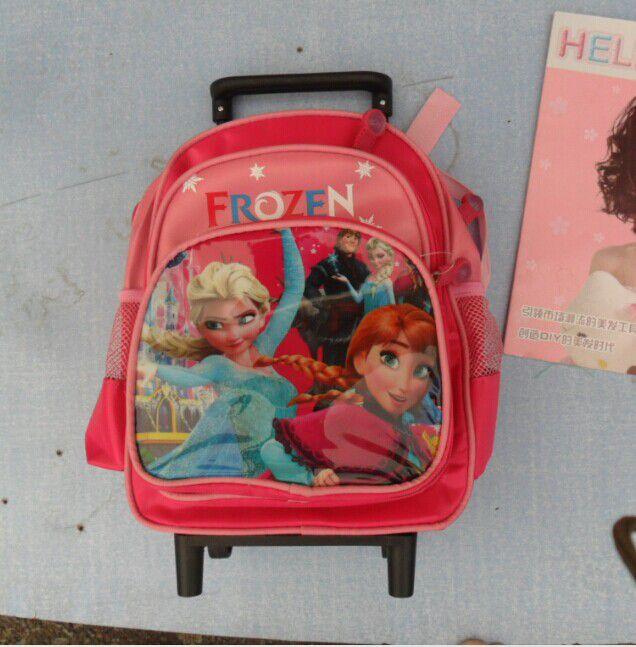 frozen外贸新款迷你幼儿园拉杆书包 冰雪奇缘小拉杆书包图片