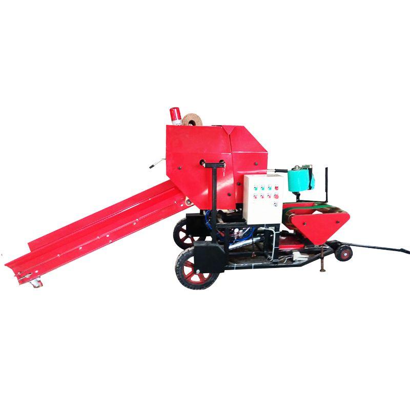 供应新款青贮玉米秸秆打捆包膜机 青贮饲料打包机